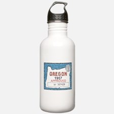 Vintage Oregon Registration Water Bottle