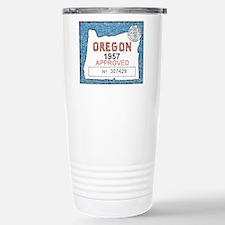 Vintage Oregon Registration Travel Mug