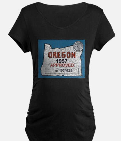 Vintage Oregon Registration Maternity T-Shirt