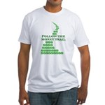 Follow The Money Trail Fitted T-Shirt