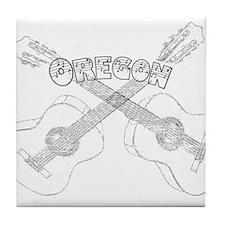 Oregon Guitars Tile Coaster