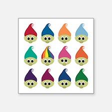 "Troll Army Rainbow Square Sticker 3"" x 3"""