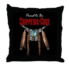 Proud to be Chippewa-Cree Throw Pillow
