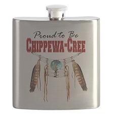Proud to be Chippewa-Cree Flask