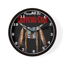 Proud to be Chippewa-Cree Wall Clock