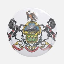 Pennsylvania Vintage State Flag Ornament (Round)