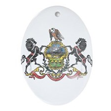 Pennsylvania Vintage State Flag Ornament (Oval)
