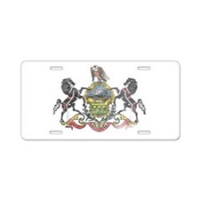 Pennsylvania Vintage State Flag Aluminum License P