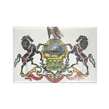 Pennsylvania Vintage State Flag Rectangle Magnet