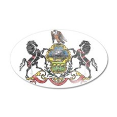 Pennsylvania Vintage State Flag Wall Decal