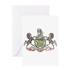 Pennsylvania Vintage State Flag Greeting Card