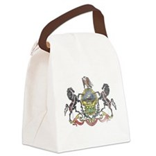Pennsylvania Vintage State Flag Canvas Lunch Bag