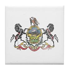 Pennsylvania Vintage State Flag Tile Coaster