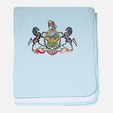 Pennsylvania Vintage State Flag baby blanket