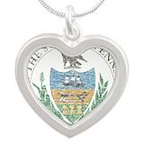 Green quaker necklace Heart