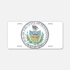 Vintage Pennsylvania Seal Aluminum License Plate