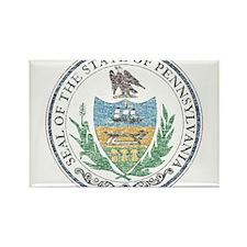 Vintage Pennsylvania Seal Rectangle Magnet
