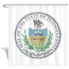 Vintage Pennsylvania Seal Shower Curtain