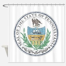 Vintage Pennsylvania Seal Shower Curtain
