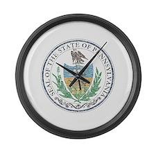 Vintage Pennsylvania Seal Large Wall Clock