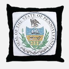 Vintage Pennsylvania Seal Throw Pillow