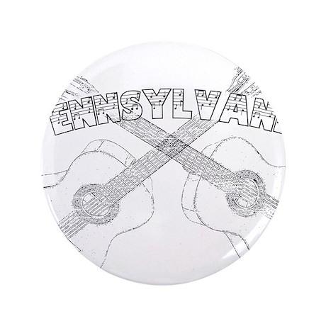 "Pennsylvania Guitars 3.5"" Button (100 pack)"
