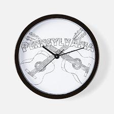 Pennsylvania Guitars Wall Clock