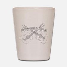 Pennsylvania Guitars Shot Glass