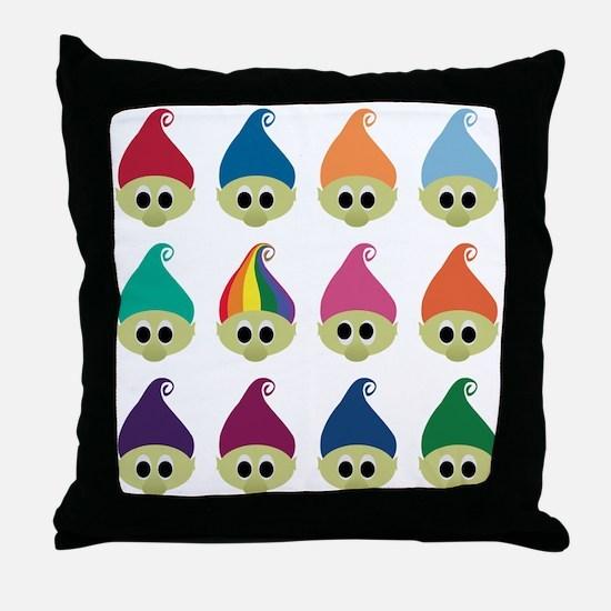 Troll Army Rainbow Throw Pillow