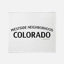 Westside Neighborhood Colorado Throw Blanket