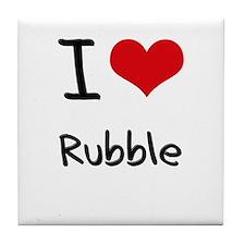 I Love Rubble Tile Coaster