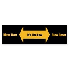 Move Over Safety Bumper Bumper Sticker