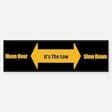 Move Over Safety Sticker (Bumper)