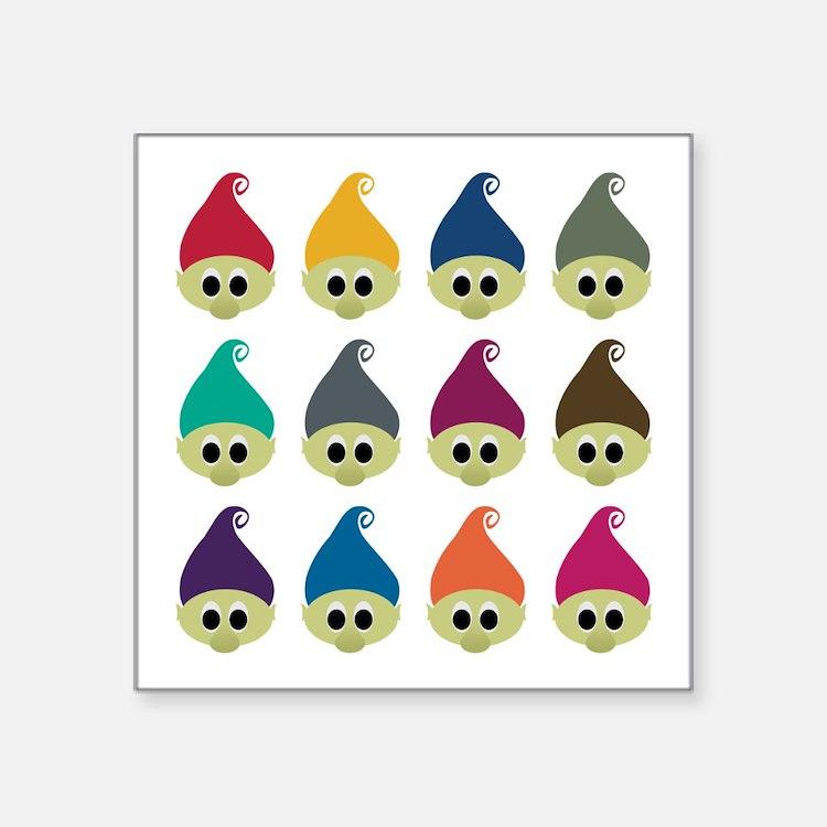 "Troll Army Square Sticker 3"" x 3"""