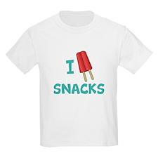 I Popsicle (Heart, Love) Snacks T-Shirt