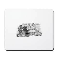 Poker Playing Cats Mousepad