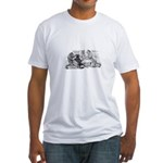 Poker Playing Cats Fitted T-Shirt
