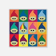 """Troll Army, Rainbow Leader Square Sticker 3"""" x 3"""""""