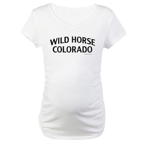 Wild Horse Colorado Maternity T-Shirt
