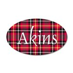 Tartan - Akins 20x12 Oval Wall Decal