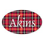 Tartan - Akins Sticker (Oval 10 pk)
