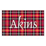 Tartan - Akins Sticker (Rectangle 10 pk)
