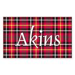 Tartan - Akins Sticker (Rectangle 50 pk)