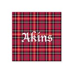 Tartan - Akins Square Sticker 3