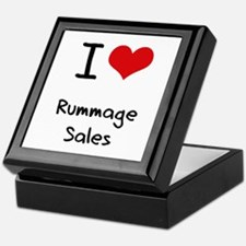 I Love Rummage Sales Keepsake Box