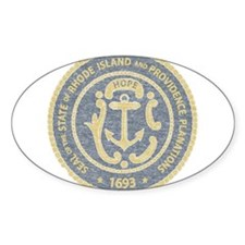 Vintage Rhode Island Seal Decal