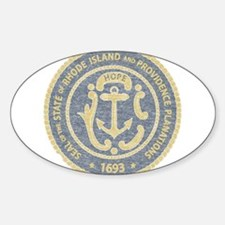 Vintage Rhode Island Seal Decal
