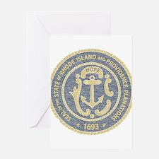 Vintage Rhode Island Seal Greeting Card