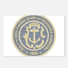 Vintage Rhode Island Seal Postcards (Package of 8)