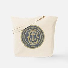 Vintage Rhode Island Seal Tote Bag